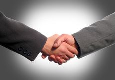 Business handshake. With gray background Royalty Free Stock Image
