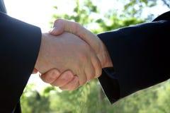 Business handshake. Shaking hands royalty free stock photography