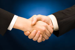 Business handshake Stock Images