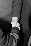 Business handshake. Close up of handshake between two businessmen Royalty Free Stock Photos
