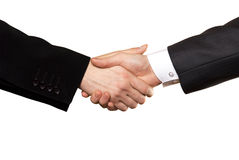Business handshake. On a white background Stock Image