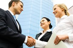 Business handshake Royalty Free Stock Photography