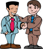 Business handshake. Business people shaking hands vector illustration