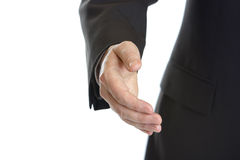Business Handshake. After corporate deal Royalty Free Stock Photo