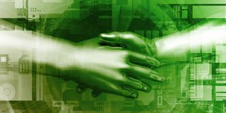 Business Handshake stock illustration