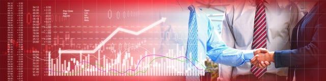 Business handshake background Stock Image
