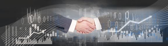 Business handshake background Royalty Free Stock Photography
