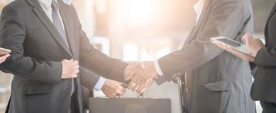 Business handshake. Business handshake and business people concept. royalty free stock photos