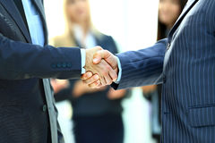 Business handshake. Business man givin Stock Image