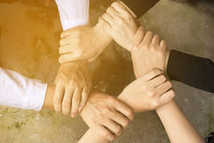 Business handshake and business people. stock photos
