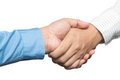 Business handshake and business people concepts. Two men shaking Royalty Free Stock Image