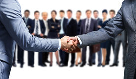 Business handshake and business people Royalty Free Stock Photos