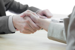 Business handshake and business people Royalty Free Stock Images