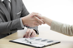 Business handshake and business people Royalty Free Stock Photo
