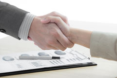 Business handshake and business people Royalty Free Stock Image