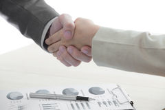Business handshake and business people Royalty Free Stock Photography