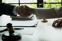 Business handshake. Business people shaking hands, finishing up a meeting,Success agreement negotiation royalty free stock photo
