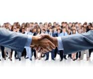 Business handshake. Closeup of a business handshake Royalty Free Stock Photos