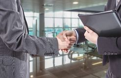 Business handshake for a closing deal Royalty Free Stock Image