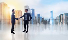 Business handshake. Concept of teamwork and partnership Royalty Free Stock Image