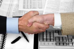 Business handshake. At the conclusion of the transaction Royalty Free Stock Photography