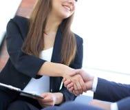 Business handshake ,congratulations or Partnership concept. royalty free stock photos
