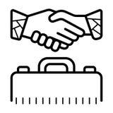 Business handshake / contract agreement icon.  stock illustration