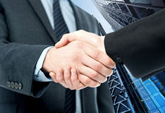 Business handshake, the deal Is finalized Stock Photos