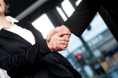 Business handshake, deal finalized Royalty Free Stock Photography