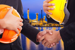 Business handshake deal refinery. Stock Image