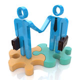 Business handshake. In the design of information related to a business meeting Royalty Free Stock Photos