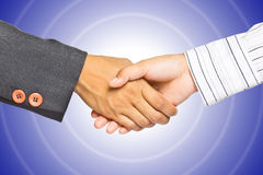 Business handshake on gradient background Royalty Free Stock Images
