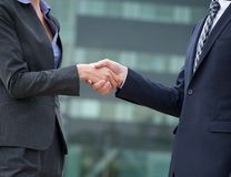 Business Handshake Greeting Stock Images