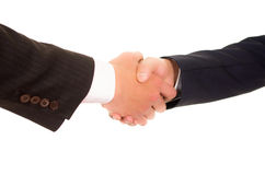 Business handshake, hispanic men Stock Images