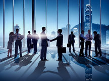 Business Handshake in Hong Kong Office Royalty Free Stock Image