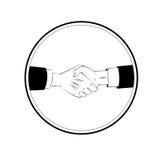 Business handshake icon Stock Photography