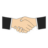 Business handshake icon,emblem,sticker,logo,tag Stock Photography