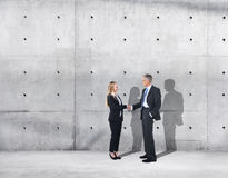 Business Handshake on an Industrial Building Royalty Free Stock Photo