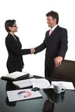 Business handshake - isolated Stock Image