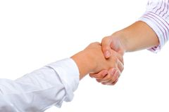 Business handshake isolated Stock Photography
