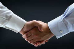 Business handshake isolated Royalty Free Stock Images