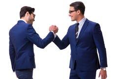 The business handshake isolated on white background Royalty Free Stock Photo