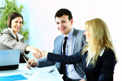 Business handshake after making Royalty Free Stock Photography