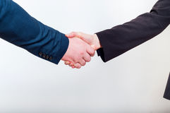 Business handshake when making a good profitable deal Stock Photos