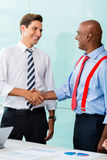Business handshake in office after agreement Stock Photo
