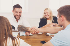 Business handshake at office meeting, contract conclusion and su Royalty Free Stock Photo