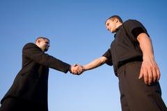 Business handshake outdoor Royalty Free Stock Photo