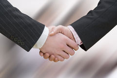 Business handshake over blurry background. Hand made clipping path included Royalty Free Stock Photography