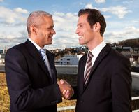 Business handshake over the deal Royalty Free Stock Photos