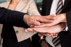 Business handshake over the deal. Close-up shot Royalty Free Stock Photo